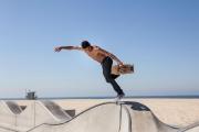 September 2012 - Venice Beach, USA: Skater in the skate park in Venice Beach in Los Angeles, California, USA.