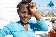 Projekt Foi Et Joie (auf Deutsch: Glaube und Freude in Haiti (Spanisch: Fe y Alegría) Besuch des Lagers in Canaa bei Port au Prince haben ca. 50.000 Familien ein neues Zuhause gefunden. Das Lager wird wahrscheinlich als neuer Stadtteil der Hauptstadt Port au Prince bestehen bleiben., aufgenommen am 8.12.2012 in Canaa bei Port-au-Prince in Haiti.