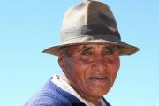 Portraet Mann beim Titicacasee Peru
