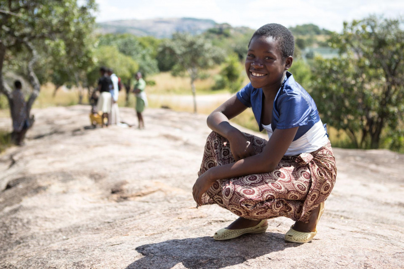 An African orphan on the roadside