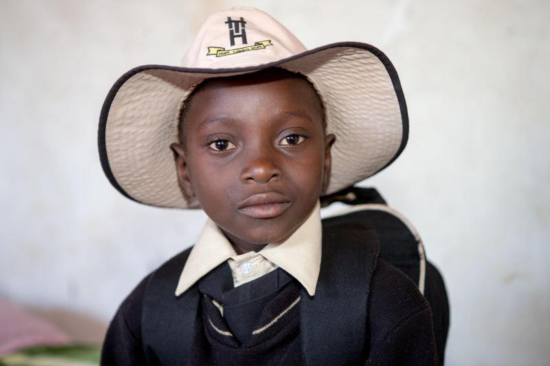 African student of the Tariro Center in Chinhoyi in Zimbabwe
